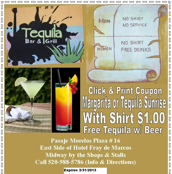 Tequila Bar & Grill in Nogales Sonora Mexico